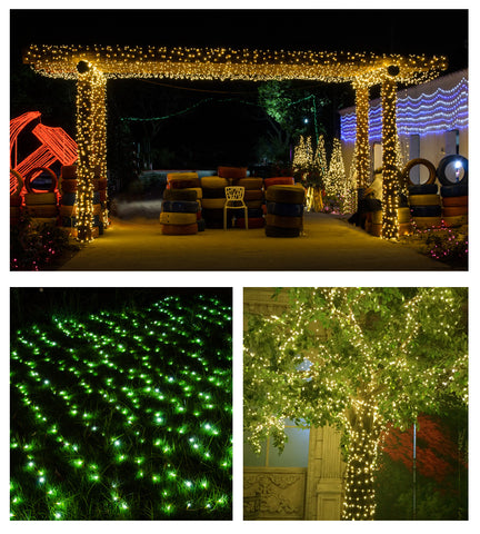 10M 100 LED Blue Lights Decorative Twinkle String Lamp Bulb 220V EU