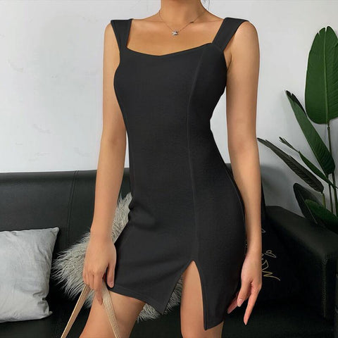 Back Twist Cut Out Short Dress