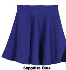 Candy Color Stretch Skater Flared Pleated Mini Skirt - MeetYoursFashion - 14