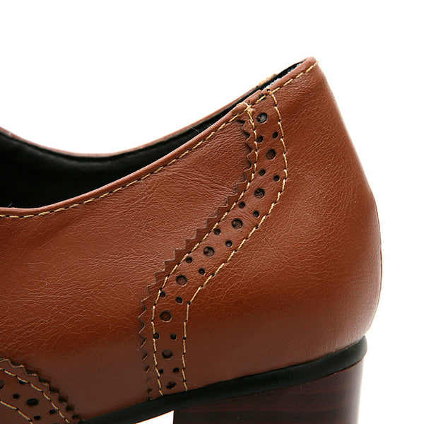 British Style Carved Classy Lace up Oxford Shoes - MeetYoursFashion - 13