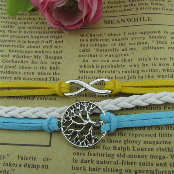 Tree Of Life Multicolor Woven Bracelet