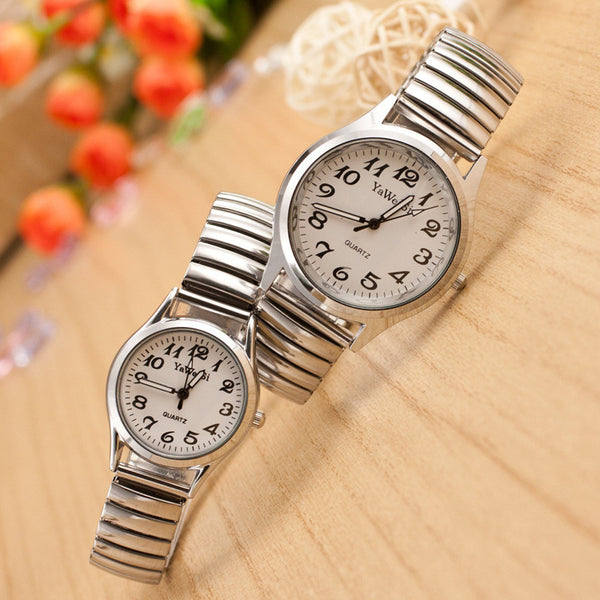Classic Couple Elastic Strap Watch