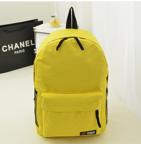 Pure Color Korean Style Casual Backpack School Travel Bag - Meet Yours Fashion - 14
