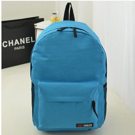 Pure Color Korean Style Casual Backpack School Travel Bag - Meet Yours Fashion - 11