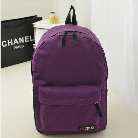 Pure Color Korean Style Casual Backpack School Travel Bag - Meet Yours Fashion - 13