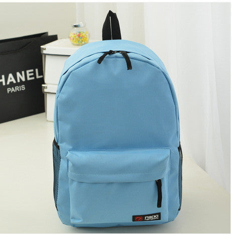 Pure Color Korean Style Casual Backpack School Travel Bag - Meet Yours Fashion - 12
