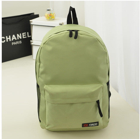 Pure Color Korean Style Casual Backpack School Travel Bag - Meet Yours Fashion - 7