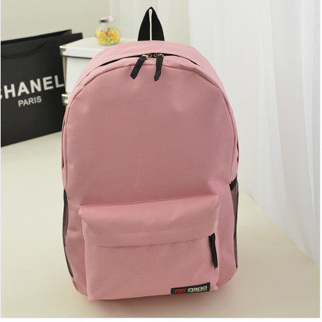 Pure Color Korean Style Casual Backpack School Travel Bag - Meet Yours Fashion - 2