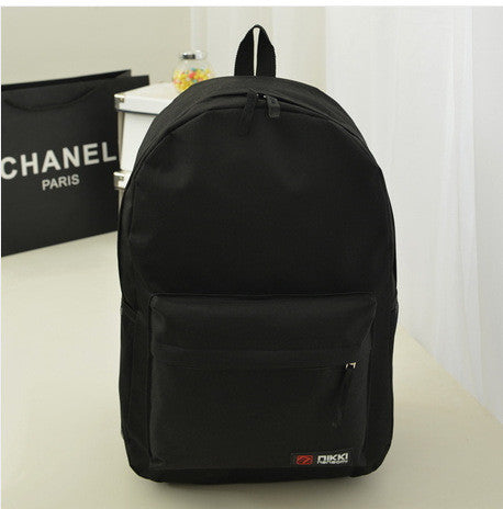 Pure Color Korean Style Casual Backpack School Travel Bag - Meet Yours Fashion - 1