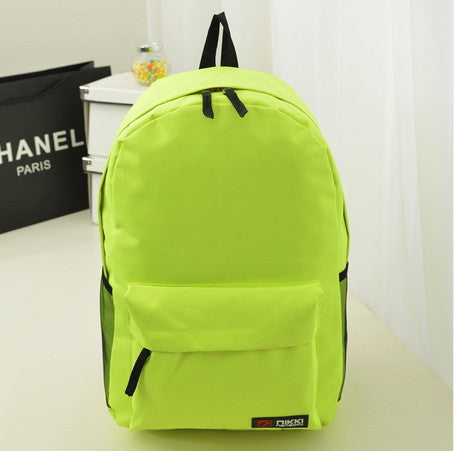 Pure Color Korean Style Casual Backpack School Travel Bag - Meet Yours Fashion - 6