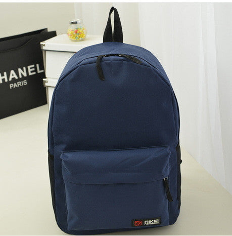 Pure Color Korean Style Casual Backpack School Travel Bag - Meet Yours Fashion - 3