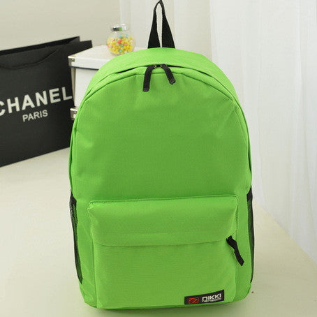 Pure Color Korean Style Casual Backpack School Travel Bag - Meet Yours Fashion - 4