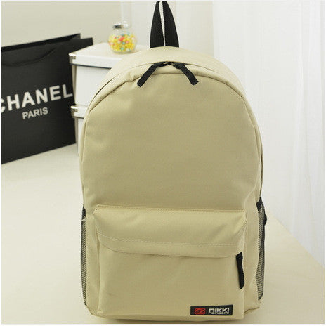 Pure Color Korean Style Casual Backpack School Travel Bag - Meet Yours Fashion - 10