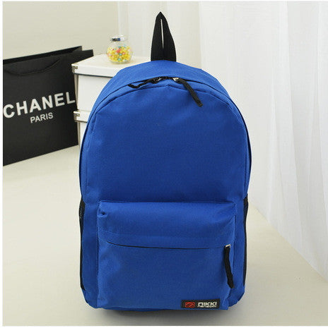 Pure Color Korean Style Casual Backpack School Travel Bag - Meet Yours Fashion - 8