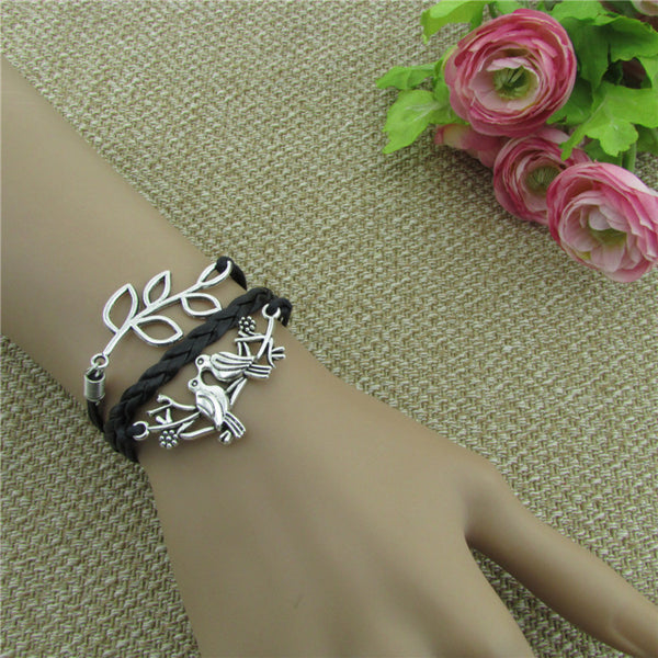 Romantic Love Birds Couple Bracelet