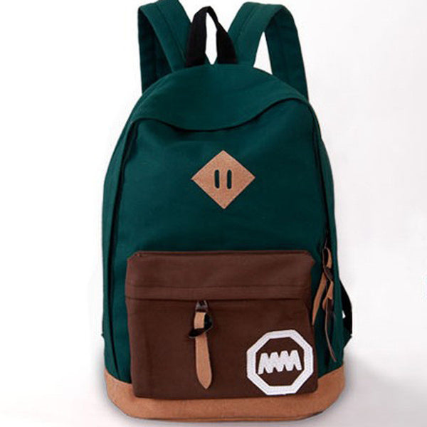 Fashion Korea Style Contrast Color School Backpack Travel Bag - Meet Yours Fashion - 1