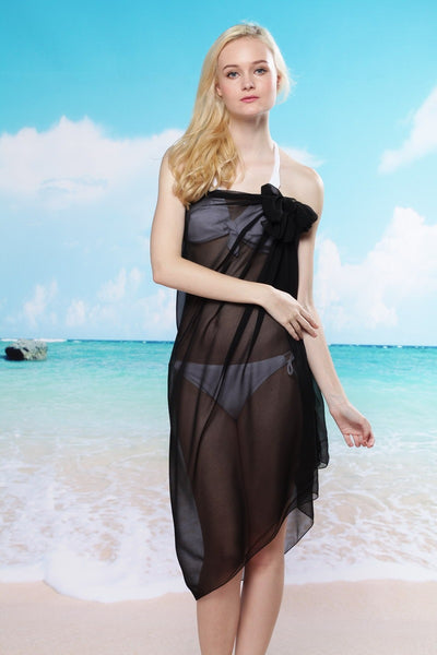 Beautiful Chiffon Rectangle Beach Cover Up Dress