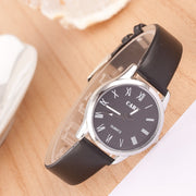 Roman Number Couple Leather Watch