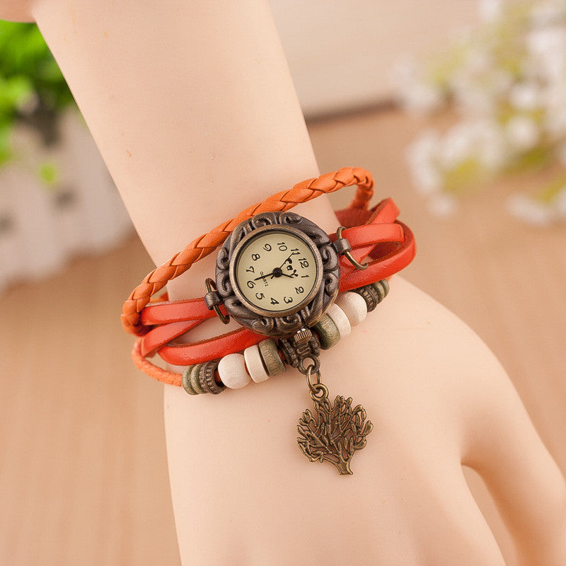 Retro Blessing Tree Multilayer Watch