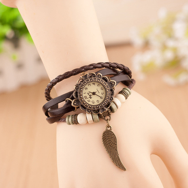 Angel's Wing Woven Bracelet Watch