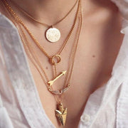 Irregular Triangle Pendant Layered Necklace - MeetYoursFashion - 1