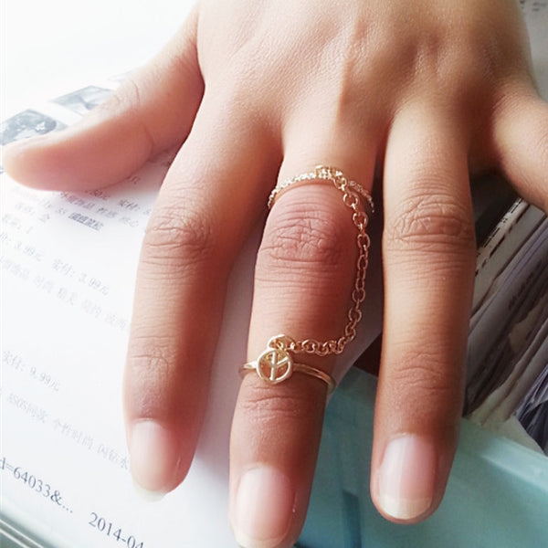 Beautiful Double Ring Multi-finger Ring