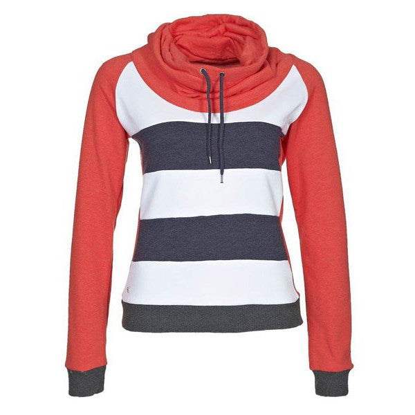 Drawstring Striped Short Womens Hoodie - MeetYoursFashion - 1