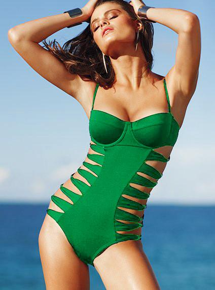 Cut Out Monokini Cut out Spaghetti Strap Swimwear - Meet Yours Fashion - 5