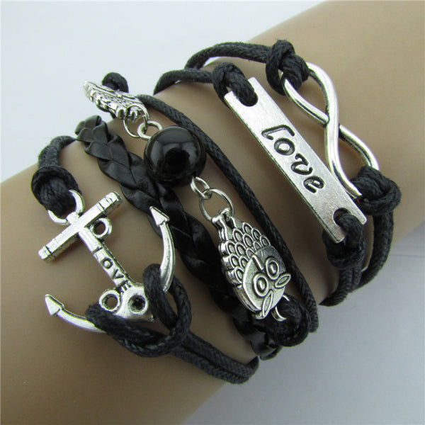 Anchor LOVE Owls Handmade Friendship Bracelets