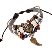 Personality Wing Pendant Multilayer Bracelet - Oh Yours Fashion - 2
