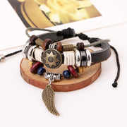 Personality Wing Pendant Multilayer Bracelet - Oh Yours Fashion - 3