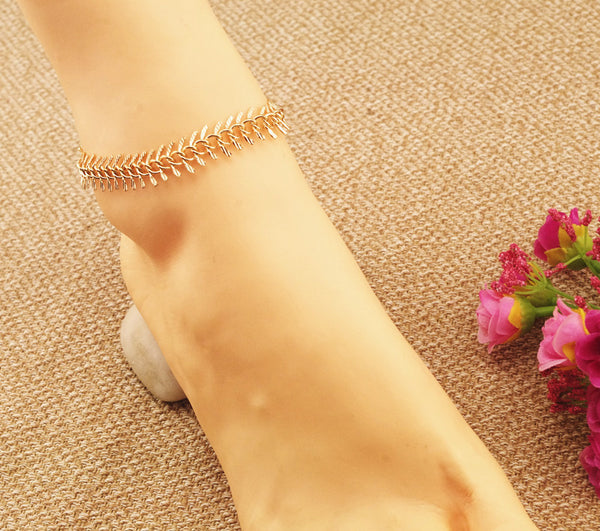 Beautiful Fish Bone Anklet