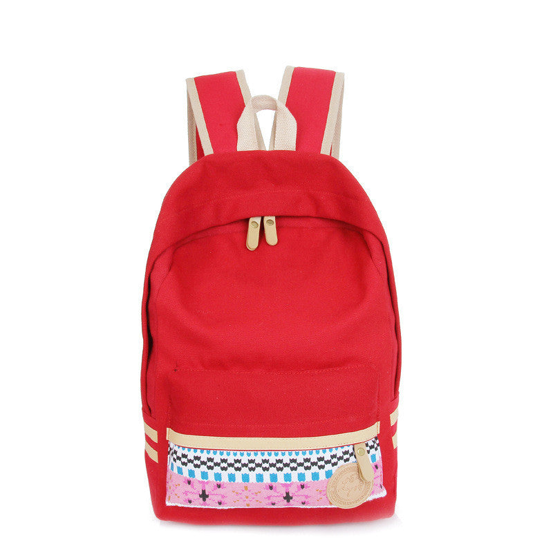 Fashion Street Style Print School Backpack Canvas Bag - Meet Yours Fashion - 1