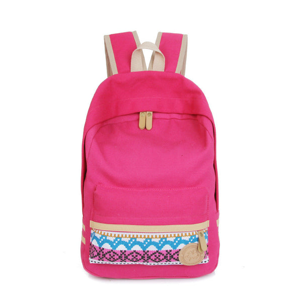 Fashion Street Style Print School Backpack Canvas Bag - Meet Yours Fashion - 7