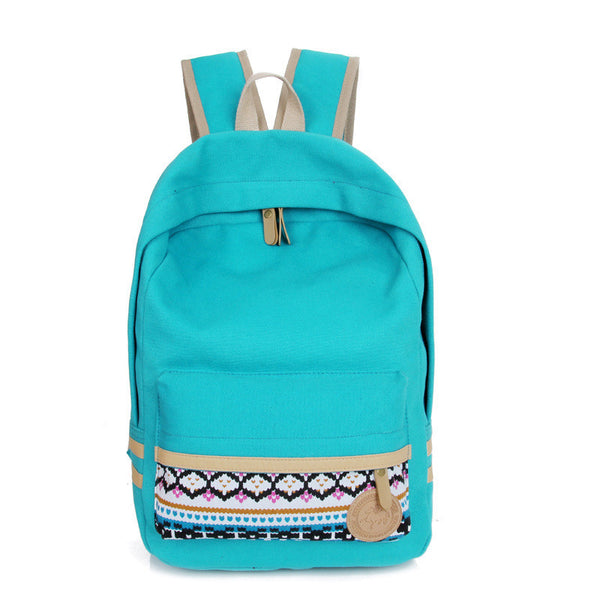 Fashion Street Style Print School Backpack Canvas Bag - Meet Yours Fashion - 3