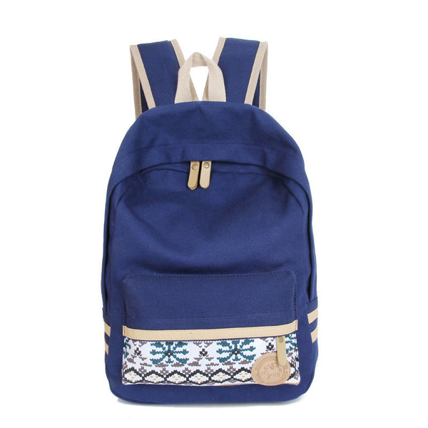 Fashion Street Style Print School Backpack Canvas Bag - Meet Yours Fashion - 2
