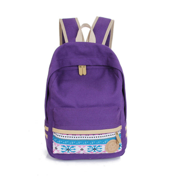 Fashion Street Style Print School Backpack Canvas Bag - Meet Yours Fashion - 6