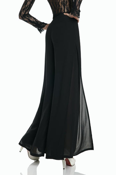 Chiffon Split High Waist Wide Leg Pants