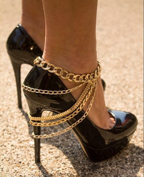 Beautiful Long Multilayer Tassel Anklet