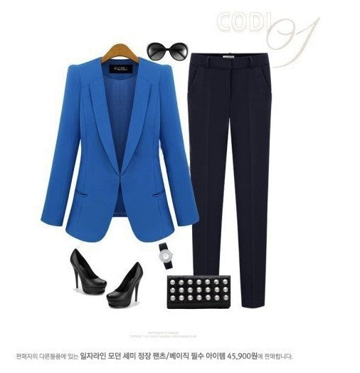 Turn-down Collar Slim Fashion Lapel OL Style Short Blazer