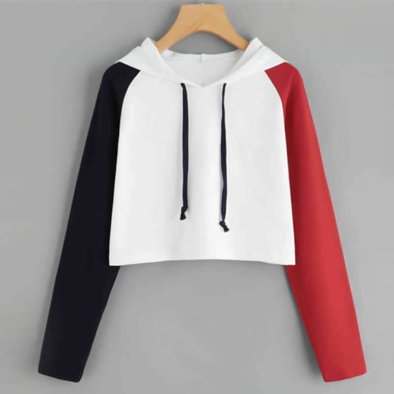 Casual Pullover Drawstring Loose Crop Hoodies