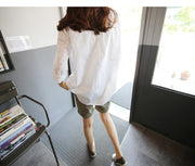 Turn-down Collar Lace Hollow Out Long Sleeves Casual Blouse - Meet Yours Fashion - 5