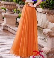 Bohemian Flared Pleated Pure Color Slim Floor Maxi Skirt - Meet Yours Fashion - 7