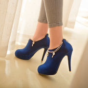 Charmed Suede High Heel Booties Shoes - MeetYoursFashion - 4
