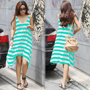 Stripe Loose Irregular Beach Women¨¹s Dress - MeetYoursFashion - 1