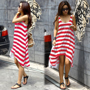Stripe Loose Irregular Beach Women¨¹s Dress - MeetYoursFashion - 4
