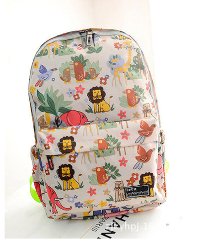 Graffiti Style Fashion Canvas School Backpack Bag - Meet Yours Fashion - 3