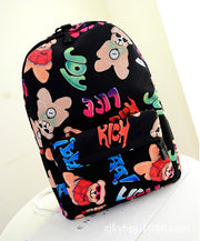 Graffiti Style Fashion Canvas School Backpack Bag - Meet Yours Fashion - 9