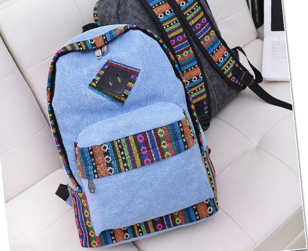 National Flavor Canvas Backpack School Travel Bag - Meet Yours Fashion - 1