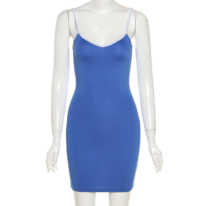 Low Cut V-neck High Stretch Dress